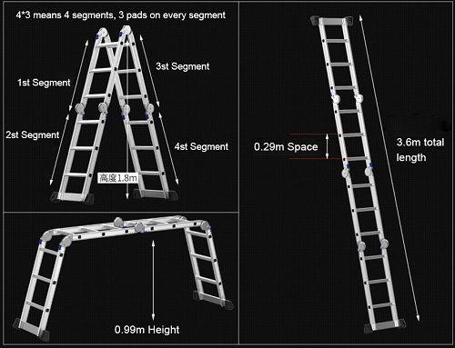 Multi-purpose Aluminum Alloy Ladder