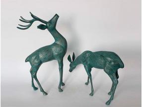 Cast Aluminium Deer Statue