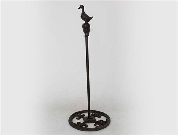 Cast iron paper towel holder with goose shape