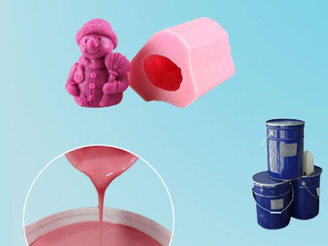 Low price rtv-2 silicone rubber with hardener for candle soap mould making