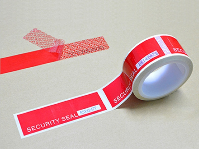 Tamper Evident Security Tape With Perforation Liner and Serial Number
