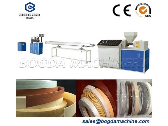 Plastic Wood Edge Band Machine, PVC Edge Banding Extrusion Machine