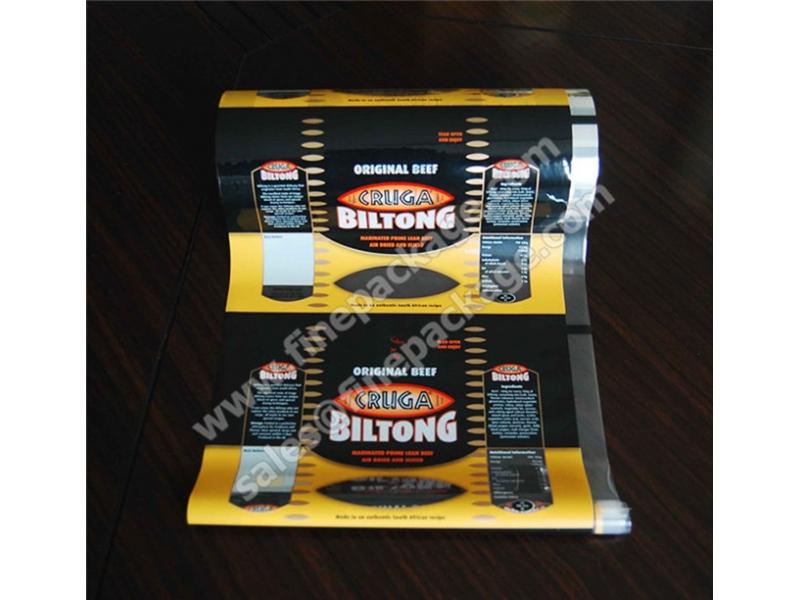 high barrier beef jerky and biltong packaging rollstock film