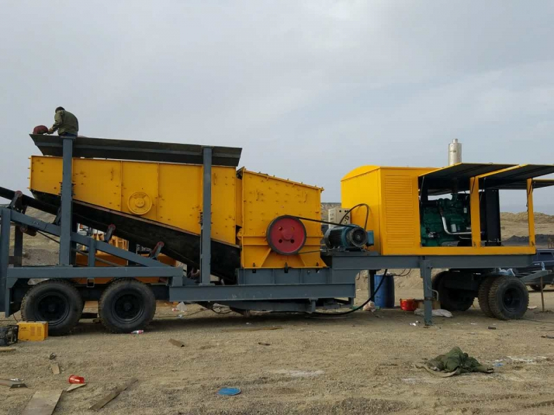 Mobile crushing station stone crusher