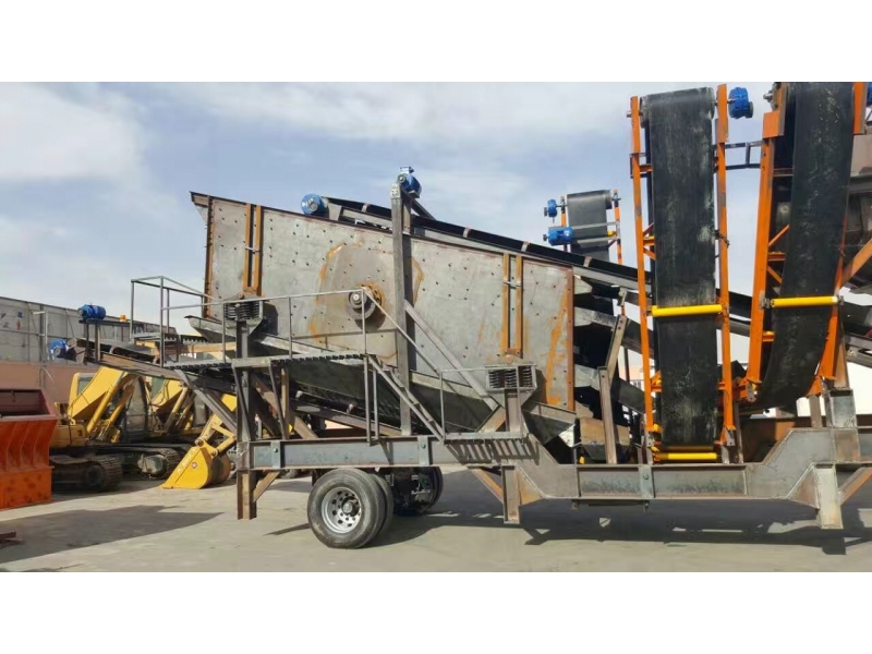 Mobile crushing station stone crusher machine