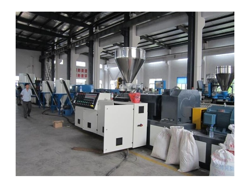PVC Conical Twin Screw Extruder/Double Screw Extruder for PVC Plastic Profile Sheets Pipe Extrusion