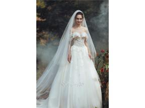 Veil Sweetheart Neckline  Ball Gown Tulle Wedding Dress  Lace,Pearls