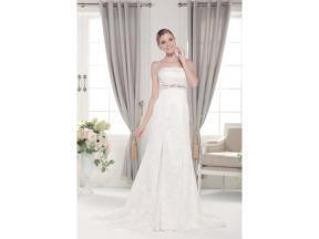 Strapless mermaid empire waist lace wedding dress Lace and chiffon