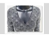 Women's knitting long sleeve  dress