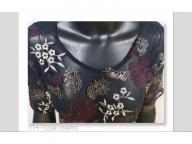 Women's woven short sleeve top