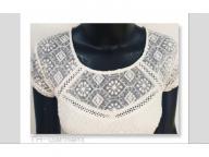 Women's knitted short sleeve top