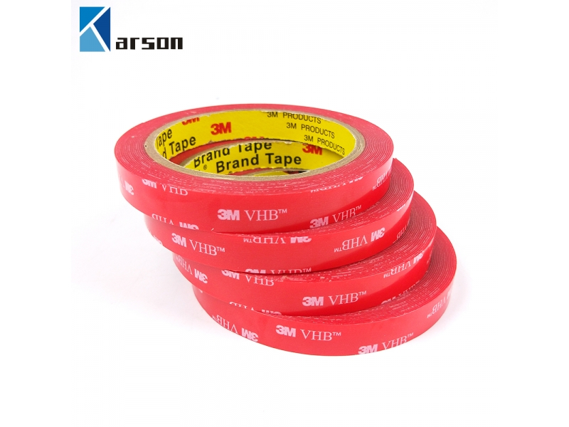 Original 3M VHB 4910 Clear Double Sided Acrylic Adhesive Foam Tape With Red Or White Liner
