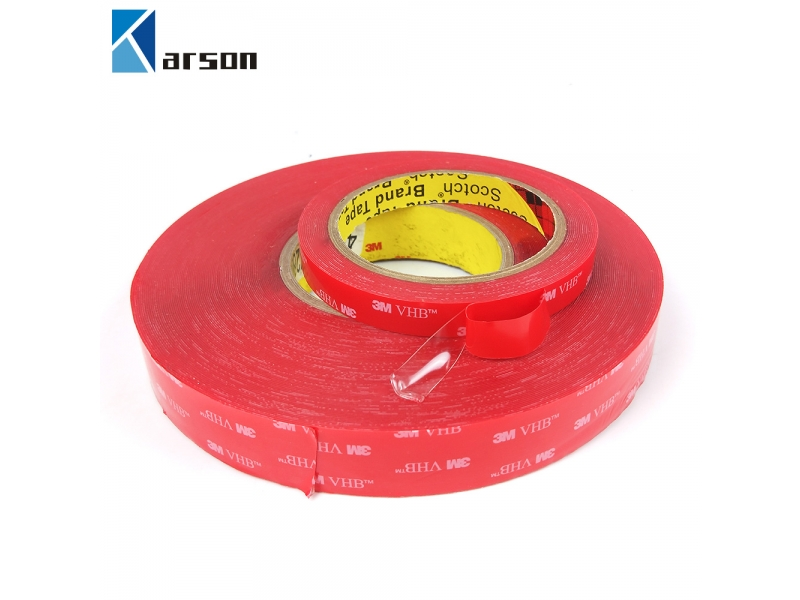 Original 3M VHB 4905 Clear Double Sided Acrylic Adhesive Foam Tape With Red Or White Liner