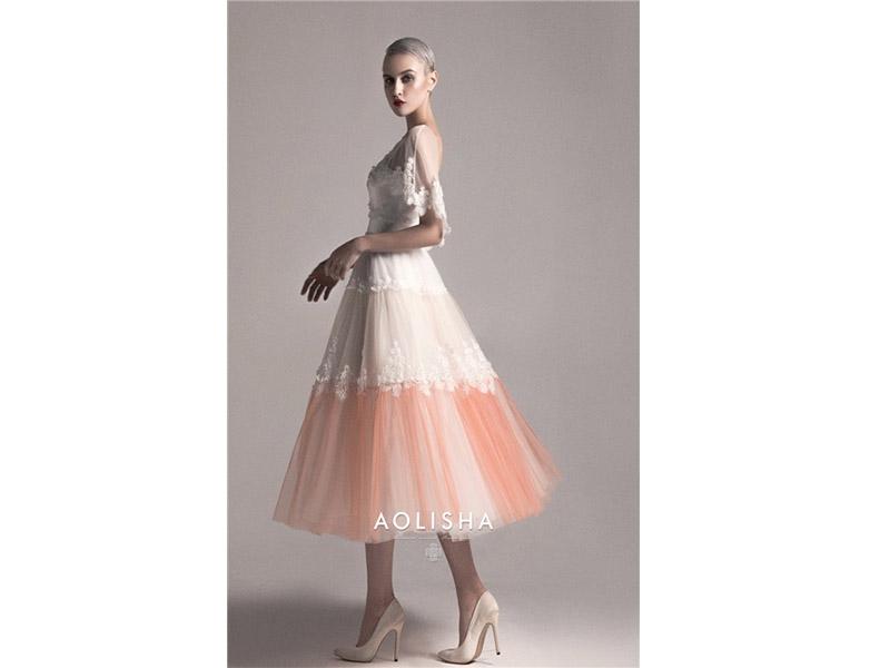 Boat Neckline Short Sleeves Sheath Beaded Lace Bodice Short Skirt Tulle Evening Dress  Lace,SWAROVSK