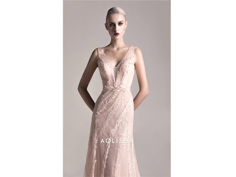 Sweetheart Sleeveless Sheath Beaded Lace Bodice  A Line Tulle&Satin Evening Dress Lace,Crystal,P