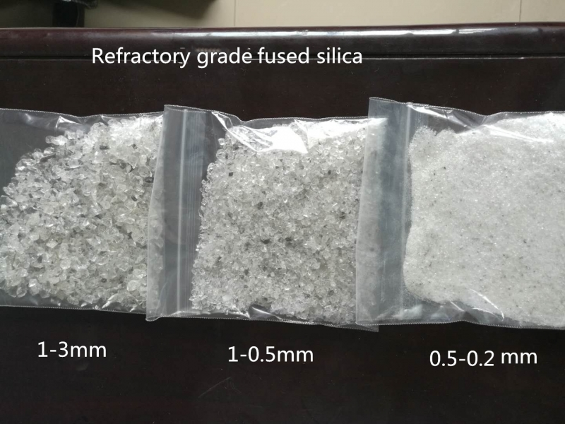1-3/1-0/0.5-0.2 mm  fused silica for refractory material