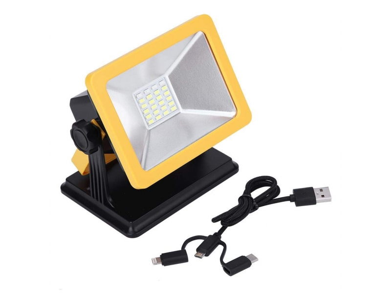5V Rechargeable LED Work Light with Magnetic Battery Powered Waterproof Outdoor Camping Emergency