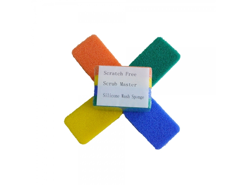 High Density Eco-friendly Silicone Coated Reticulated Cleaning Sponge