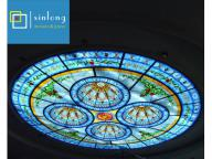 stained glass dome skylight