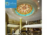 good price stained glass ceiling dome for church decoration