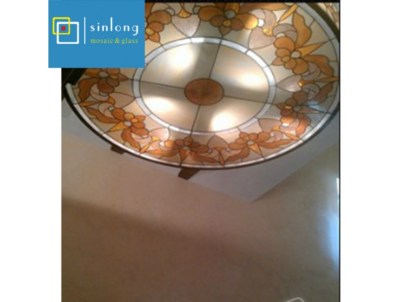 custom made stained glass dome panels
