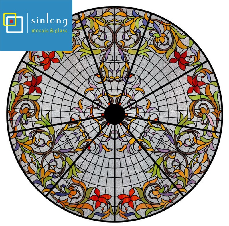 SL12-X933 classic pattern art stained glass ceiling dome.jpg