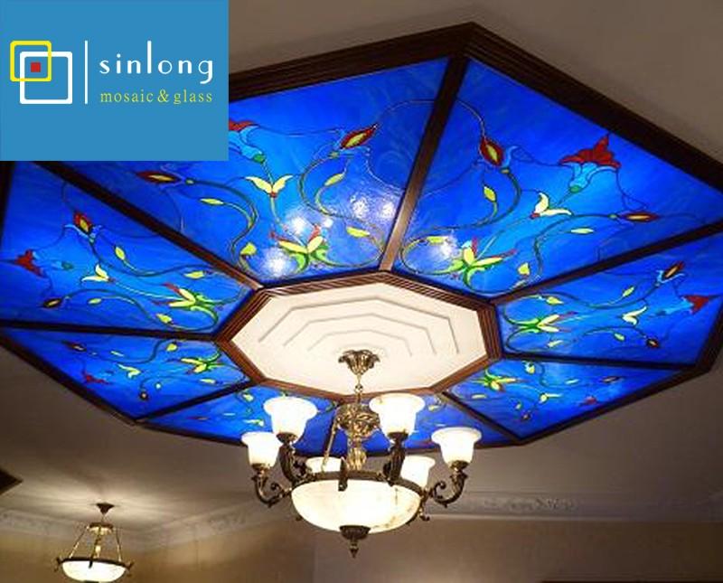 SL12-X936 hot sale hexagonal skylight with stained galss custom patterns.jpg