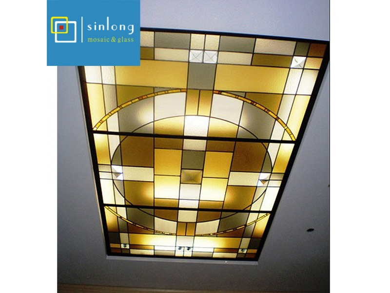 factory supply stained glass for skylight ceiling roof dome