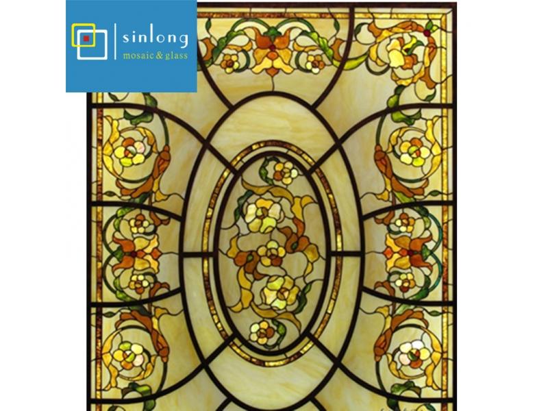 religious design tiffany stained glass dome skylight