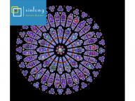 stained glass roof ceiling dome customized