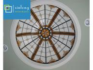 handmade tiffany stained glass roof skylight