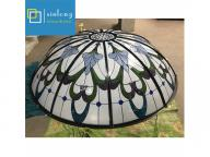 factory supply stained glass dome new design colorful patterned cathedral dome stained glass price