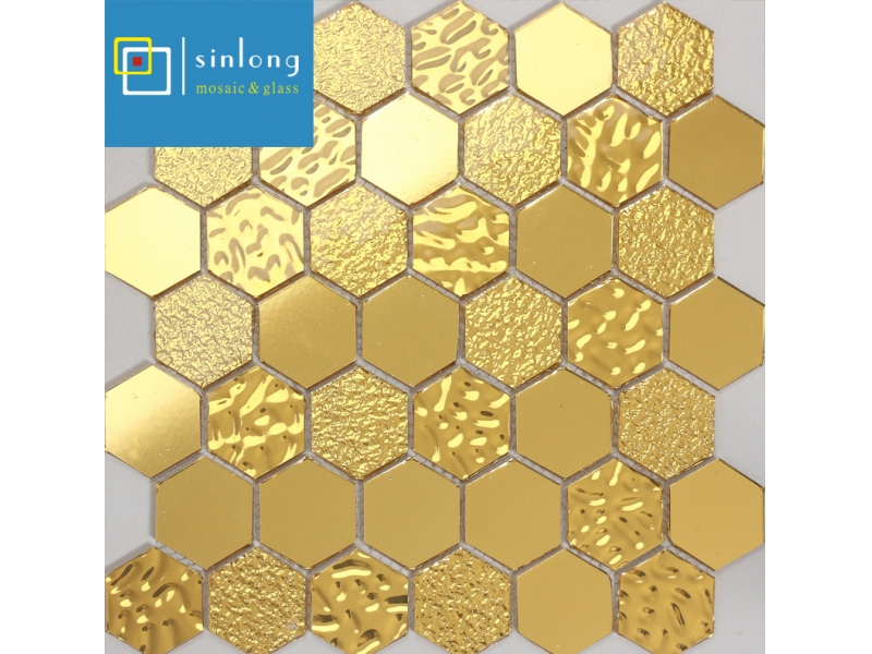 gold glass mosaic tile