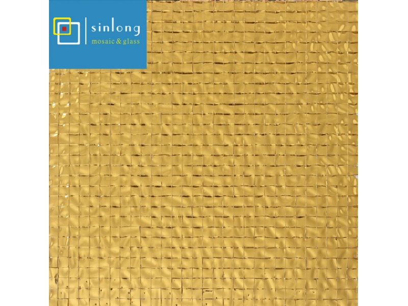 gold glass mosaic tiles