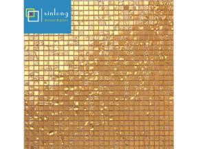 gold mosaic tile art