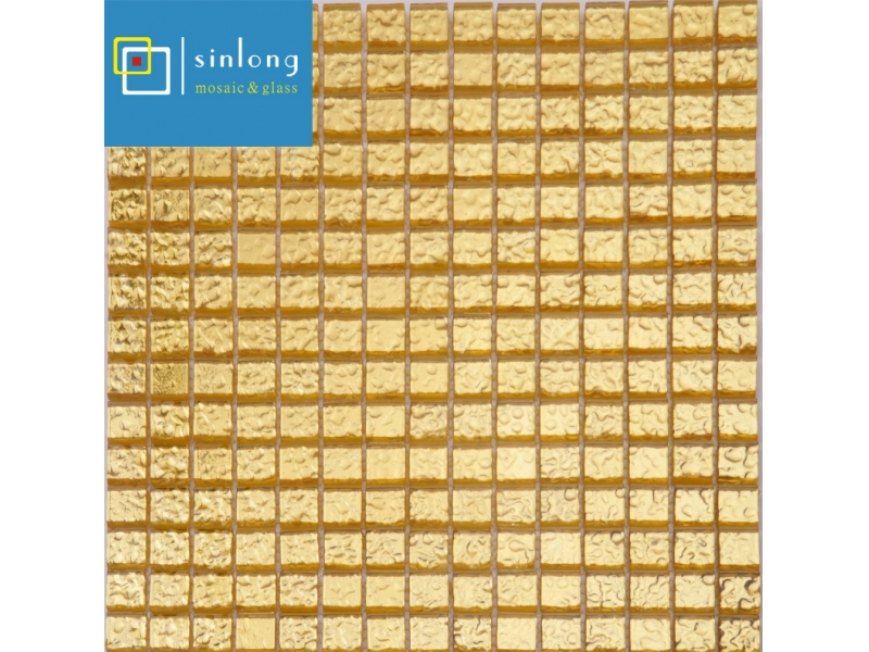 gold glass mosaic tile sheets