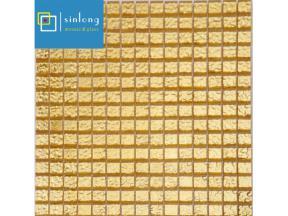 gold glass mosaic tile sheets