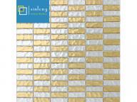 gold color glass mosaic tile