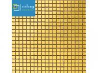 golden bronze glass mosaic tile