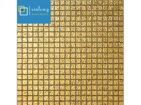 real gold sandwich glass mosaic tile