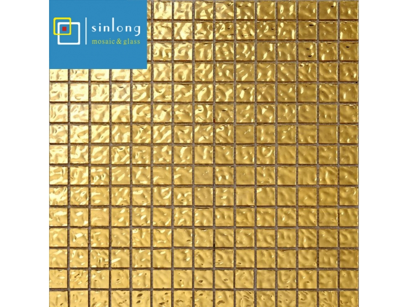 24k real gold mosaico tile