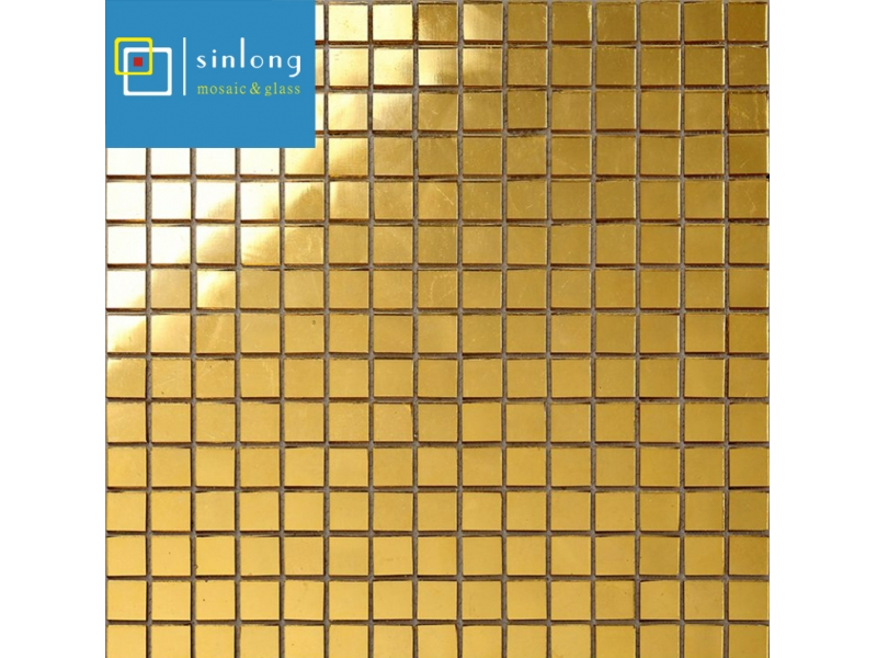plain gold foil glass mosaics