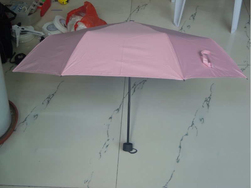 manual open 3 folding  umbrella