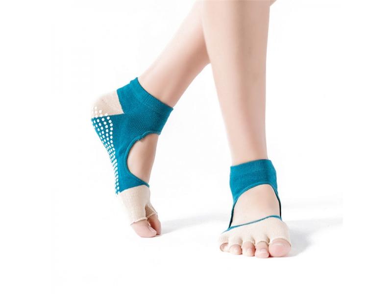 YHAO 2019 New Arrival Yhao Brand Yoga Women's Toes Socks Anti-Slip Socks For Pilates