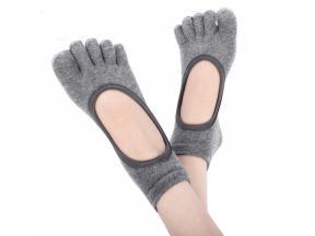 YHAO 2019 Yhao Grey Five Toes Backless Yoga Pilates Dance Socks Anti-Slip Socks For Women