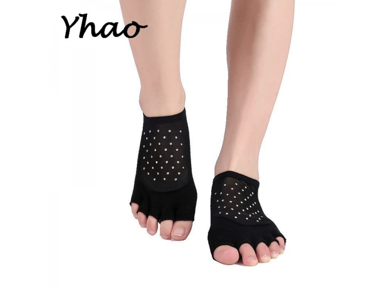YHAO 2019 Yhao Women Toeless Breathable Yoga Socks Combed Cotton Anti-Skid Wear-resisting Ladies Spo