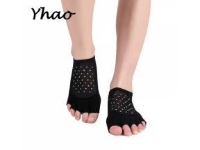 YHAO 2019 Yhao Women Toeless Breathable Yoga Socks Combed Cotton Anti-Skid Wear-resisting Ladies Spo