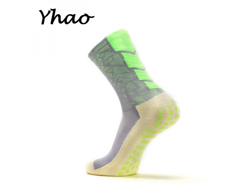 YHAO 2019 New Anti Slip Football Socks Men Sport Outdoor Cotton Socks Soccer Towel bottom Medium sto