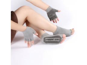 YHAO 2019 Ladies Sport socks A Combination Good Quality Women Non-slip Yoga Backless Toe Socks&G