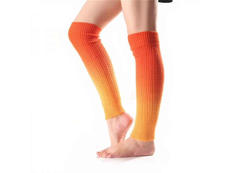 YHAO 2019 Yhao Yoga Socks Autumn And Winter Soft Cashmere Socks Gradient Segment Dyed Knitted Leggin